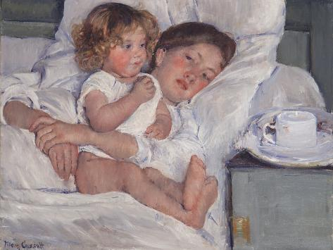 Breakfast in Bed, 1897 Lámina giclée
