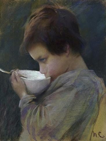 Child Drinking Giclee Print