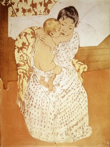Maternal Caress Giclee Print