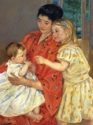 Mother and Sarah with the Baby, 1901 Lámina giclée