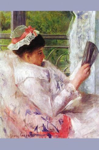 Reading Mrs. (Lydia Cassatt) By Cassatt Vinilo decorativo