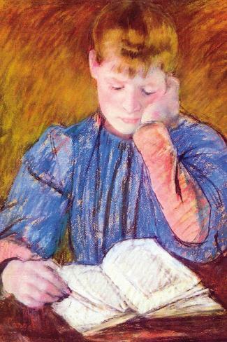 Thoughtful Reader By Cassatt Vinilo decorativo