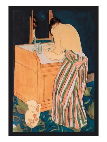 Woman Bathing Impressão artística