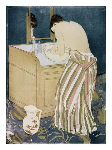 Woman Washing Hands Giclee Print