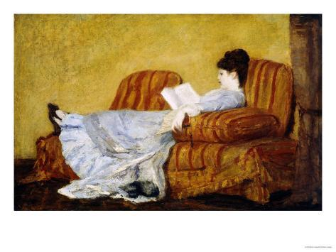 Young Lady Reading Giclee Print
