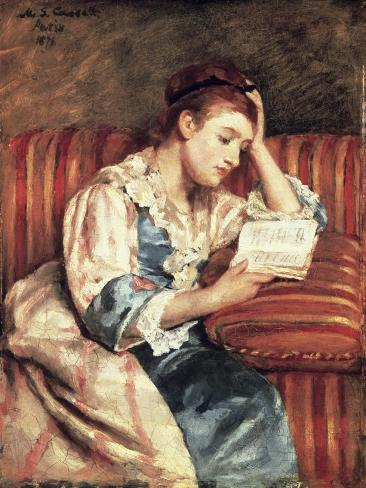 Young Woman Reading Giclee Print