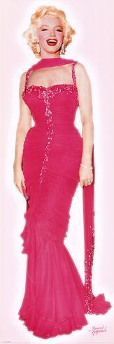 Marylin Monroe - Pink Dress Door Poster