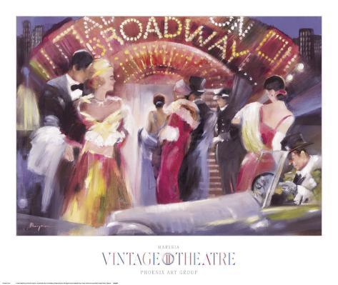 Vintage Theatre II Art Print