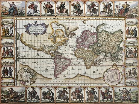 World Old Map Created By Nicholas Visscher Published In Amsterdam - Amsterdam old map