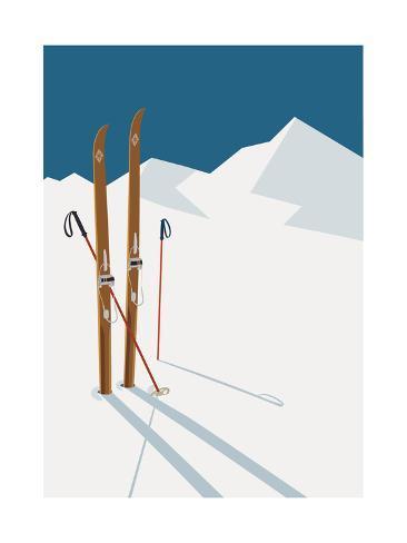 オールポスターズの mascha tace vector winter themed template with