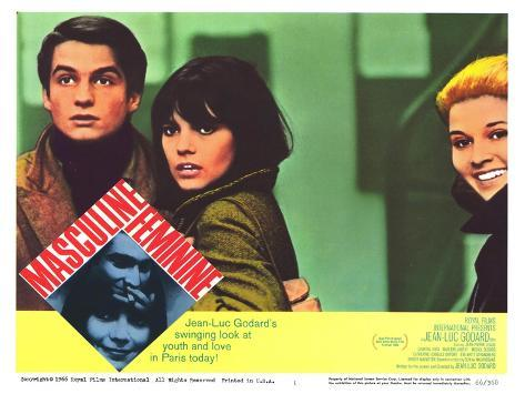 Masculine Feminine, 1966 Premium Giclee Print