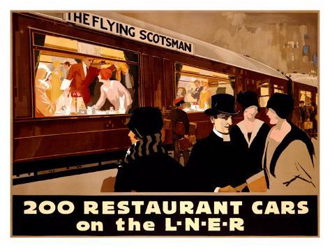 Restaurant Cars Giclee Print