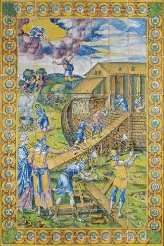 The Story of Noah: the Building of the Ark, Rouen Lámina giclée