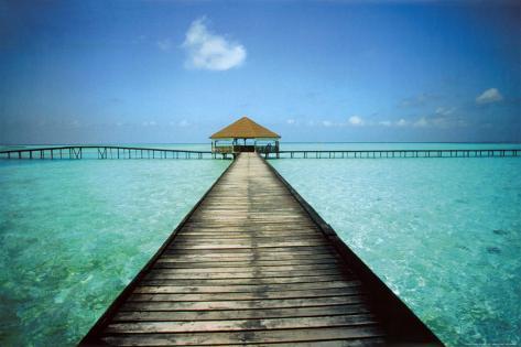 Jetty Maldives Poster