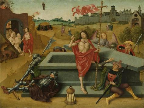 Resurrection of Christ, Circle of Master of the Amsterdam Death of the Virgin Art Print