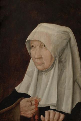 Portrait of Jacomina Claesdr Van Ruyven, Wife of Arent Franckensz Van Der Mee Art Print
