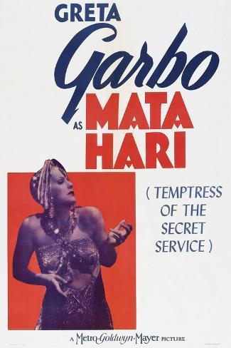 Mata Hari, Greta Garbo, 1931 Stampa artistica