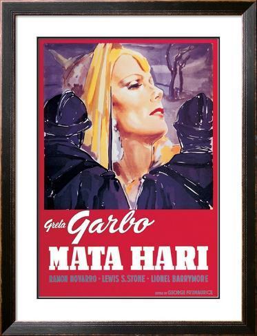 Mata Hari Impressão artística emoldurada
