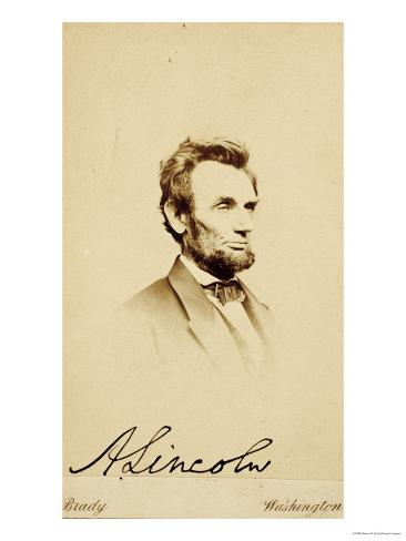 Photographic Portrait of Abraham Lincoln, 1864 Giclee Print
