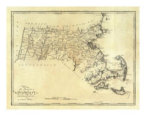 State of Massachusetts, c.1795 Art Print