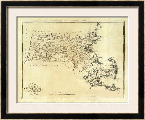 State of Massachusetts, c.1795 Framed Giclee Print