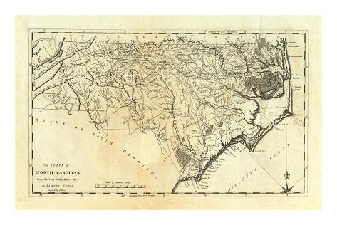 State of North Carolina, c.1795 Art Print