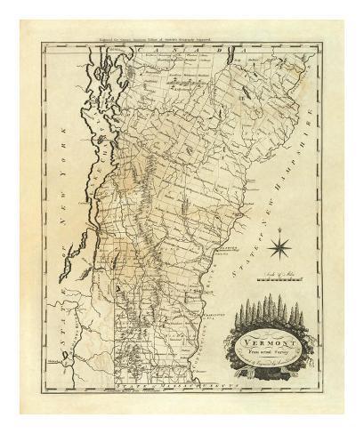 Vermont, c.1795 Art Print