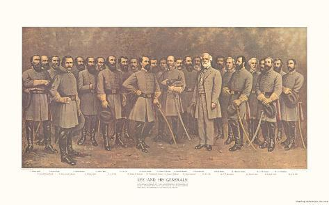 Robert E. Lee and His Generals Art Print