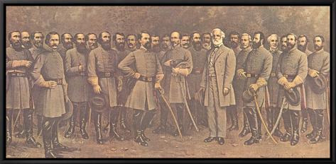 Robert E. Lee and His Generals Framed Canvas Print