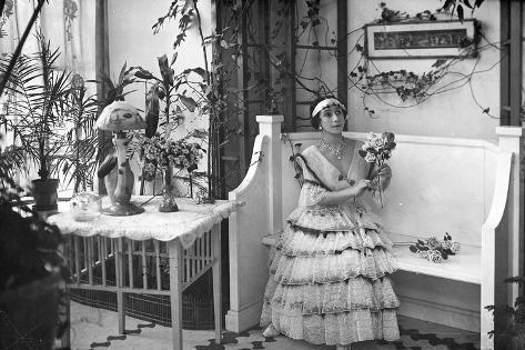 Matilda Feliksovna Kchessinka at Home, C.1910-17 Stampa fotografica