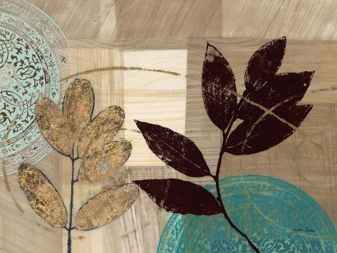 Leaf Kaleidescope 1 Art Print