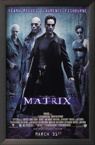 Matrix Impressão artística emoldurada