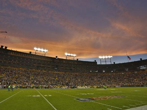 Green Bay Packers - Sept 13, 2012: Lambeau Field Stretched Canvas Print