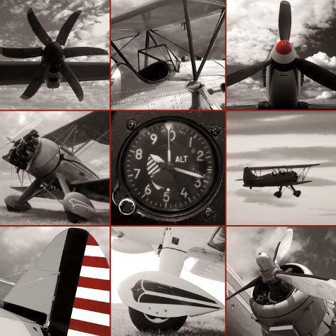 Aircraft Montage Art Print