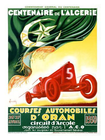 Courses Auto d'Oran Cent Giclee Print