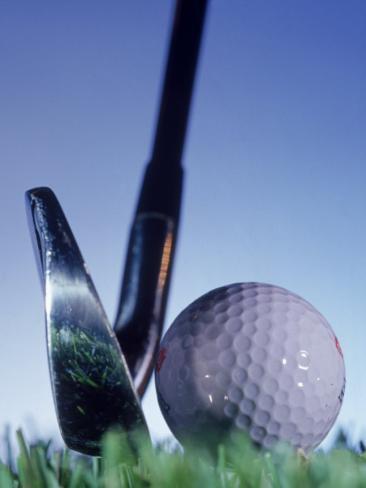 Golf Ball and Tee Photographic Print