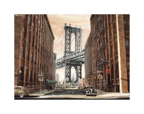 View to the Manhattan Bridge, New York City Giclee Print