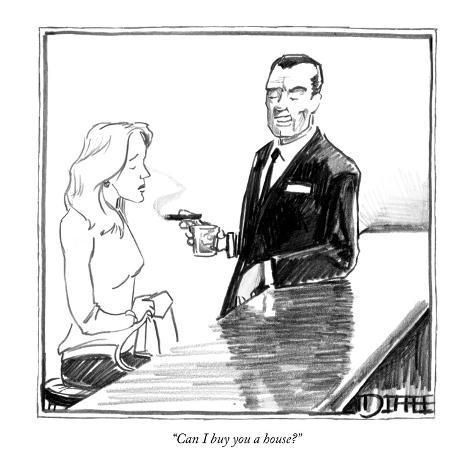 Can i buy you a house new yorker cartoon premium for Where can i buy framed art