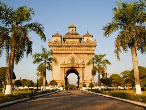 Patuxai, (Victory Gate), a Replica of Arc de Triomphe, Vientiane, Laos, Indochina, Southeast Asia Photographic Print