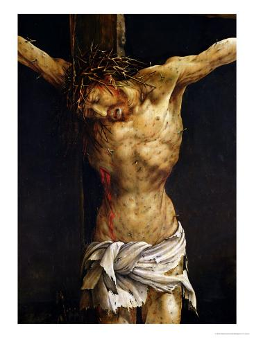 Christ on the Cross, Detail from the Central Crucifixion Panel of the Isenheim Altarpiece Lámina giclée