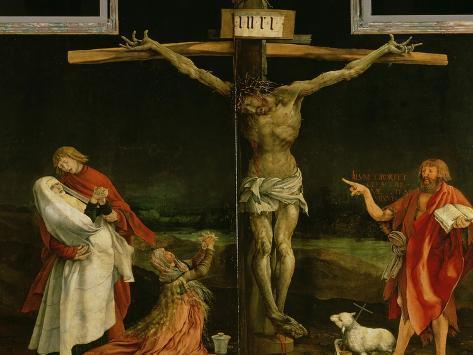 The Crucifixion, from the Isenheim Altarpiece, circa 1512-15 Giclée-vedos