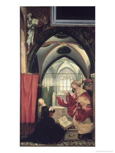 The Isenheim Altarpiece, Annunciation Impressão giclée