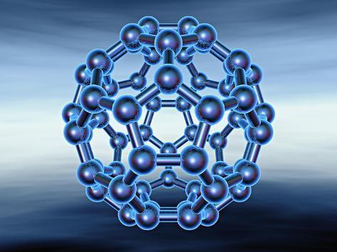 Buckyball also known as Fullerene or Buckminsterfullerene Giclee Print