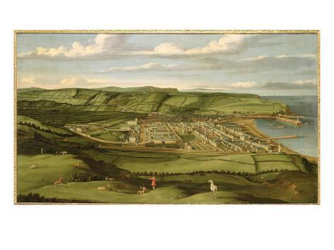 Whitehaven, Cumbria, Showing Flatt Hall, c.1730-35 Giclee Print