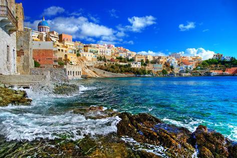 Beautiful Greek Islands Series - Syros Photographic Print