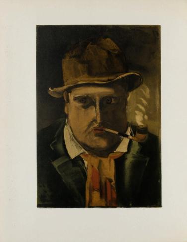 1922- Autoportrait Lámina coleccionable