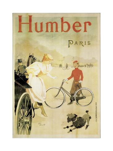 Poster Advertising 'Humber' Bicycles, 1900 Giclee Print