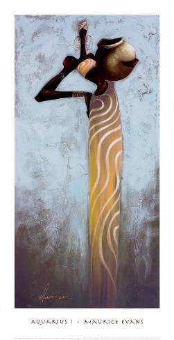Aquarius I Framed Art Print