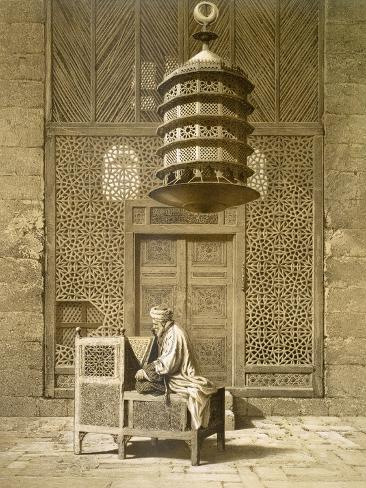 An Imam Reading the Koran in the Mosque of the Sultan, Morocco, 1817 Lámina giclée