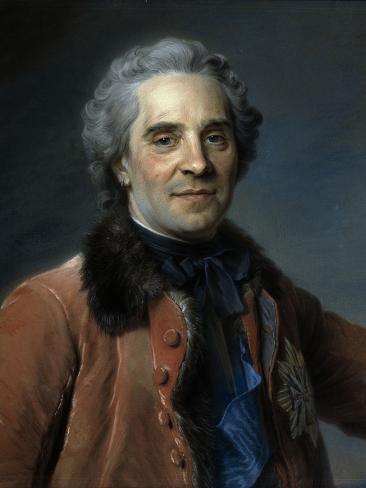 Marechal de Saxe, Moritz Count of Saxony Giclee Print